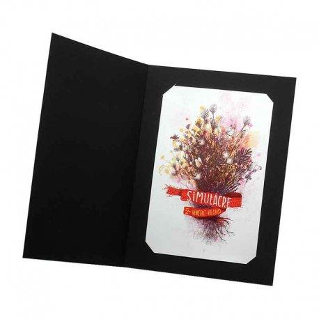 Pochette photo 10x15 carton noir