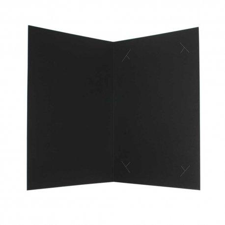 Pochette-pour-photo-15x21 et 15x23 carton de création noir mat lisse