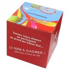 Urne carton personnalisée 12x12x12