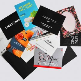 Pochette à encoches imprimée pour photo 10x13 10x15