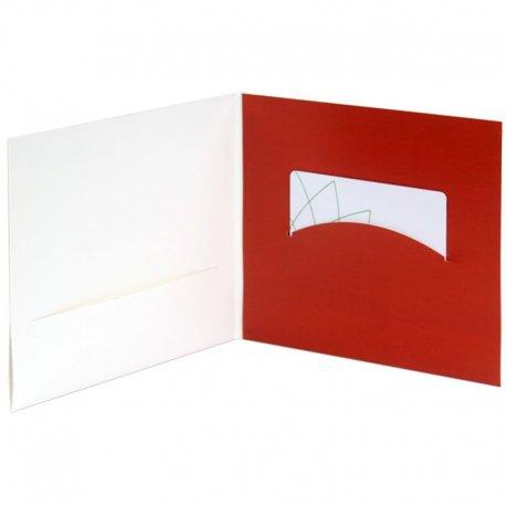 Packaging carton imprimé pour carte cadeaux