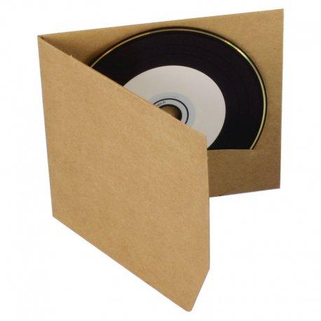 Pochette CD carton kraft recyclé