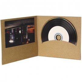 Pochette CD digifile vierge carton Kraft pour disque et livret