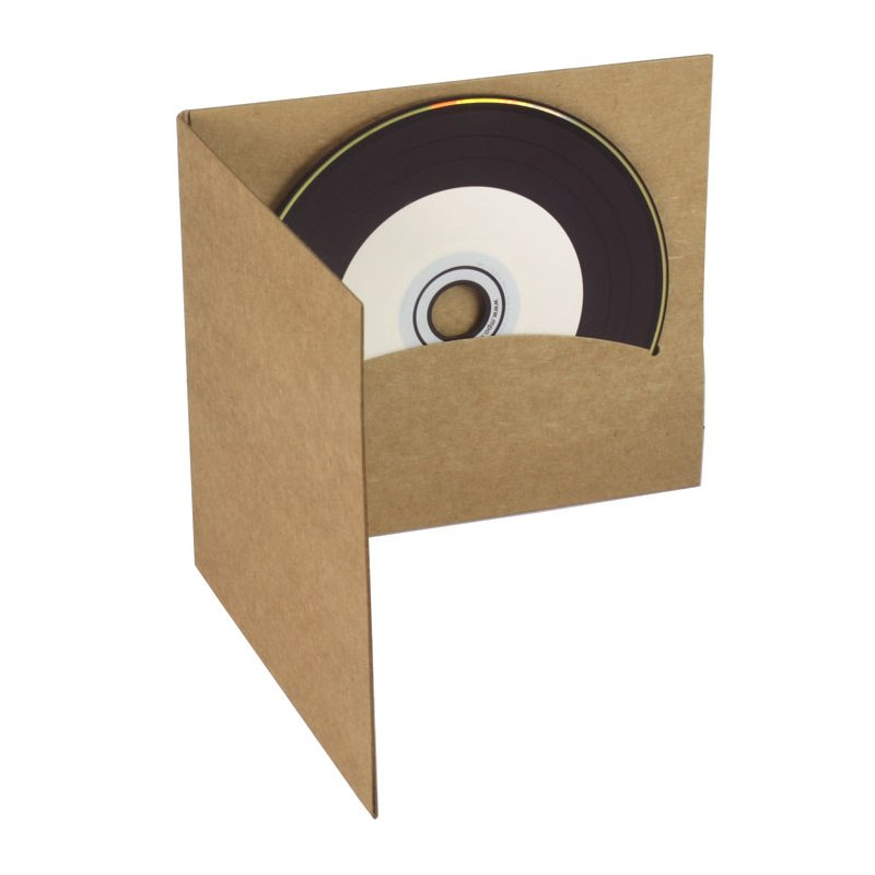 Extrêmement Pochette CD digifile carton Kraft disque et livret SF14