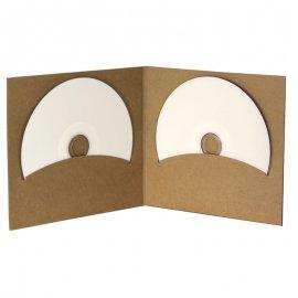 Pochette CD digifile vierge carton Kraft deux disques