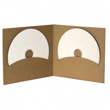 Pochette CD digifile vierge carton Kraft double disques