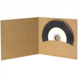 Pochette CD digifile vierge carton Kraft un disque sans livret