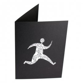 Pochette photo 10x13 10x15 personnalisée sur carton noir