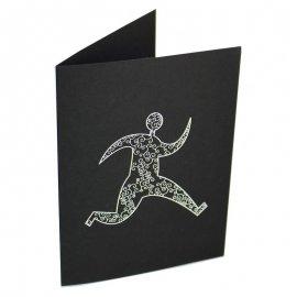 Pochette pour photo 13x18 -13x19 avec impression sérigraphique blanche sur carton noir