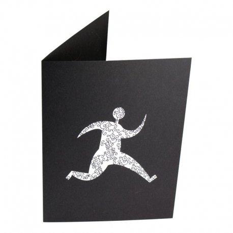 Pochette pour photo 13x18 -13x19 impression par sérigraphie sur carton noir teinté masse