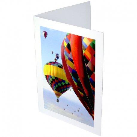 Pochette blanche avec impression pour photo 15x21-15x23