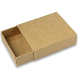 Boite carton kraft à tiroir