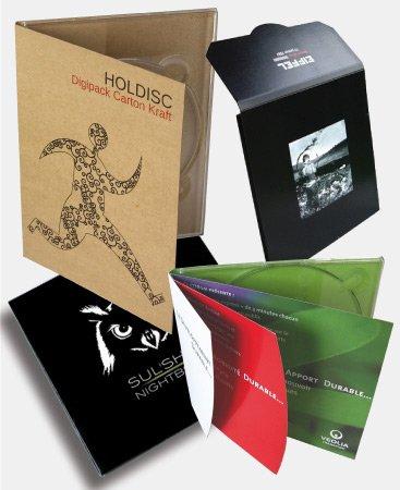 Pochette CD avec impression personnalisée sur carton kraft
