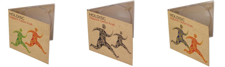Packaging en carton kraft avec impression personnalisée pour CD et DVD