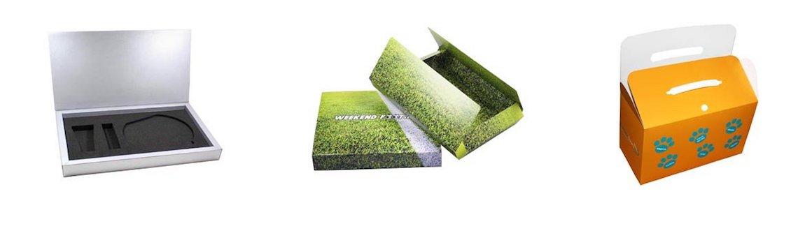 Packaging coffret, étui, fourreau en carton compact imprimé