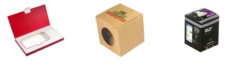 Packagings personnalisés, boites carton