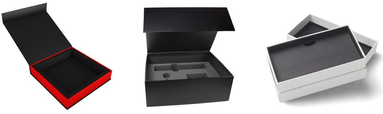 Packaging de luxe en carton recouvert